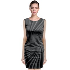 Abstract Art Color Design Lines Classic Sleeveless Midi Dress