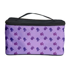 Pattern Background Violet Flowers Cosmetic Storage Case