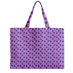 Pattern Background Violet Flowers Medium Zipper Tote Bag by Nexatart