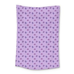 Pattern Background Violet Flowers Small Tapestry by Nexatart