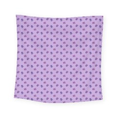 Pattern Background Violet Flowers Square Tapestry (small) by Nexatart