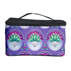 Background Floral Pattern Purple Cosmetic Storage Case by Nexatart