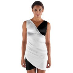 Black & White Wrap Front Bodycon Dress by MissUniqueDesignerIs