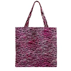 Leaves Pink Background Texture Zipper Grocery Tote Bag