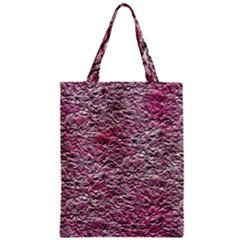 Leaves Pink Background Texture Zipper Classic Tote Bag by Nexatart