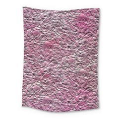 Leaves Pink Background Texture Medium Tapestry by Nexatart