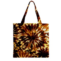 Mussels Lamp Star Pattern Zipper Grocery Tote Bag