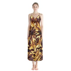 Mussels Lamp Star Pattern Chiffon Maxi Dress