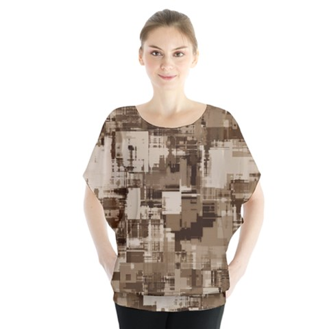 Color Abstract Background Textures Blouse by Nexatart