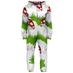 Mushroom Luck Fly Agaric Lucky Guy Hooded Jumpsuit (ladies)  by Nexatart