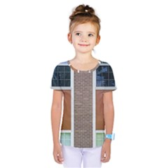 Pattern Symmetry Line Windows Kids  One Piece Tee