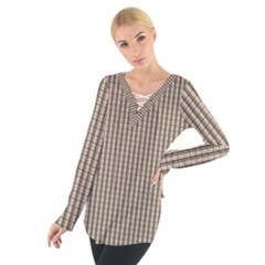 Pattern Background Stripes Karos Women s Tie Up Tee