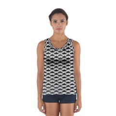 Expanded Metal Facade Background Women s Sport Tank Top
