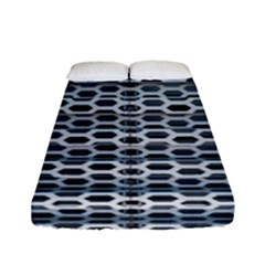 Texture Pattern Metal Fitted Sheet (full/ Double Size) by Nexatart