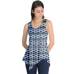 Texture Pattern Metal Sleeveless Tunic by Nexatart
