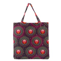 Abstract Circle Gem Pattern Grocery Tote Bag