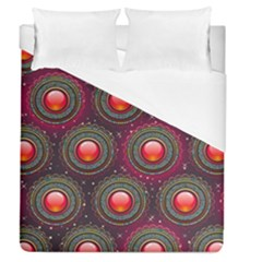 Abstract Circle Gem Pattern Duvet Cover (queen Size)