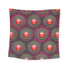 Abstract Circle Gem Pattern Square Tapestry (small)