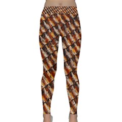 Dirty Pattern Roof Texture Classic Yoga Leggings
