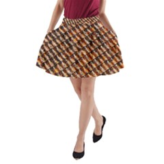 Dirty Pattern Roof Texture A Line Pocket Skirt by Nexatart