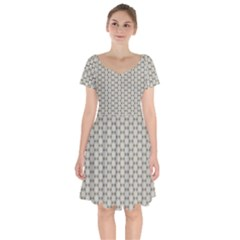 Background Website Pattern Soft Short Sleeve Bardot Dress