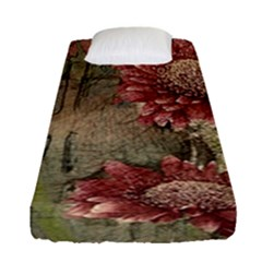 Flowers Plant Red Drawing Art Fitted Sheet (single Size)