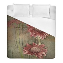 Flowers Plant Red Drawing Art Duvet Cover (full/ Double Size) by Nexatart
