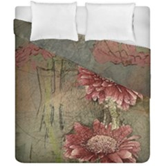 Flowers Plant Red Drawing Art Duvet Cover Double Side (california King Size) by Nexatart
