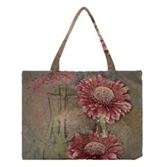 Flowers Plant Red Drawing Art Medium Tote Bag