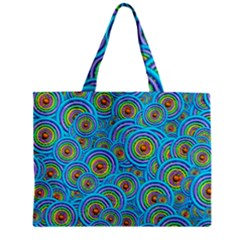 Digital Art Circle About Colorful Zipper Mini Tote Bag by Nexatart