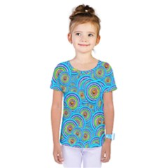 Digital Art Circle About Colorful Kids  One Piece Tee