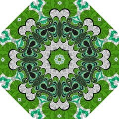 Fractal Art Green Pattern Design Straight Umbrellas