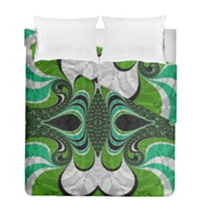 Fractal Art Green Pattern Design Duvet Cover Double Side (full/ Double Size) by Nexatart