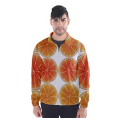 Orange Discs Orange Slices Fruit Wind Breaker (men)