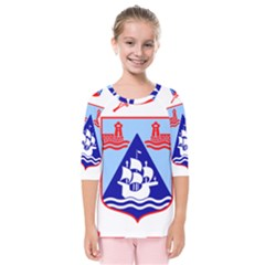 Haifa Coat Of Arms  Kids  Quarter Sleeve Raglan Tee