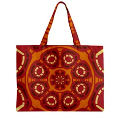 Dark Red Abstract Mini Tote Bag by linceazul