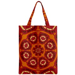 Dark Red Abstract Classic Tote Bag by linceazul