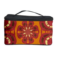 Dark Red Abstract Cosmetic Storage Case by linceazul