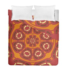 Dark Red Abstract Duvet Cover Double Side (full/ Double Size) by linceazul