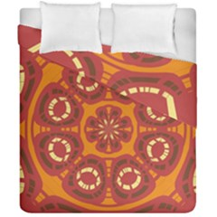 Dark Red Abstract Duvet Cover Double Side (california King Size) by linceazul