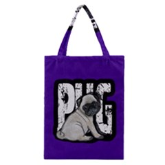 Pug Classic Tote Bag by Valentinaart