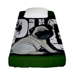 Pug Fitted Sheet (single Size) by Valentinaart