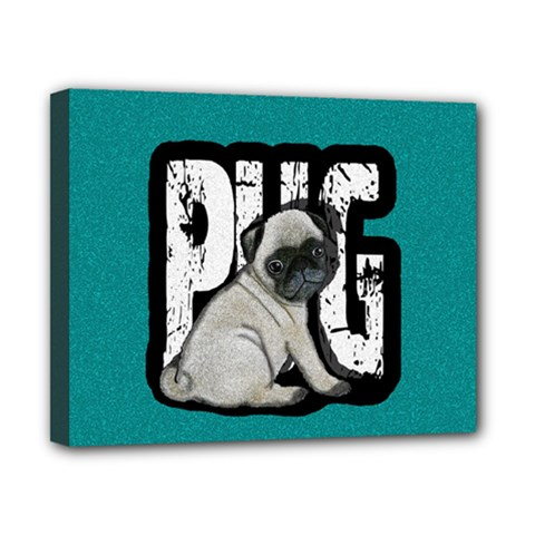 Pug Canvas 10  X 8  by Valentinaart