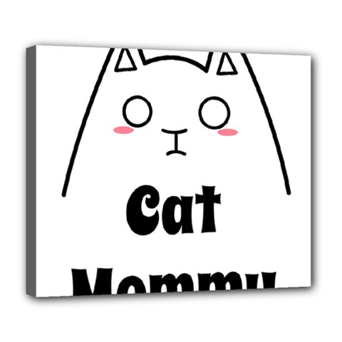 Love My Cat Mommy Deluxe Canvas 24  X 20   by Catifornia