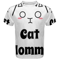 Love My Cat Mommy Men s Cotton Tee by Catifornia