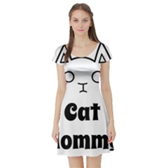 Love My Cat Mommy Short Sleeve Skater Dress by Catifornia