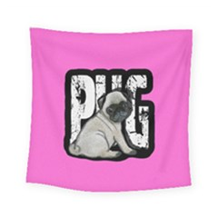 Pug Square Tapestry (small)