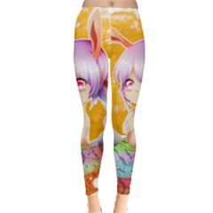 Easter Bunny Girl Leggings  by Catifornia