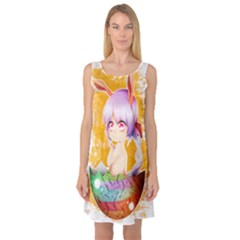 Easter Bunny Girl Sleeveless Satin Nightdress by Catifornia