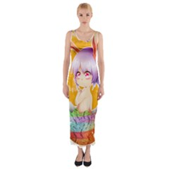 Easter Bunny Girl Fitted Maxi Dress by Catifornia